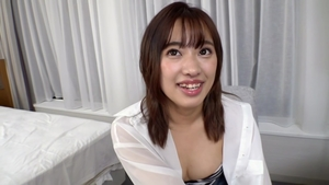 Cumshot at casting next to hairy big tits asian MILF