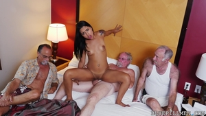 Tina Hot group sex outdoors in HD