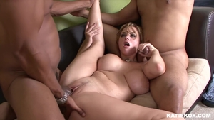 Blonde haired Bella Rossi interracial fucking