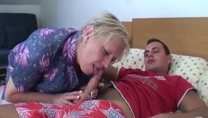 Hard slamming in company with blonde