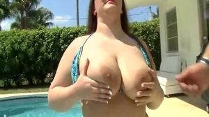 Madison Stone in erotic art handjob