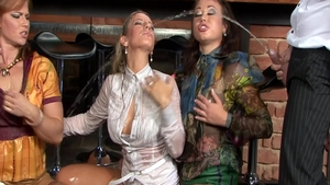 Crazy orgy with glamour chick