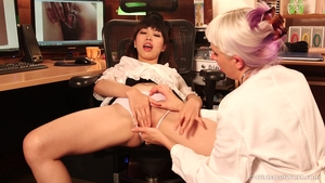 Asian brunette craving crazy hard ramming in HD