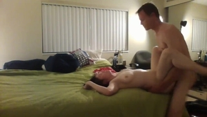 Muscled young babe first time HD