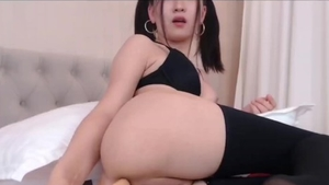 Asian girl has a passion for creampie in HD