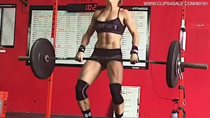 Raw workout along with muscled girl