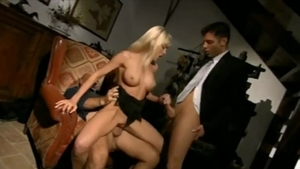Loud sex accompanied by big tits exhibitionist