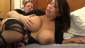 Uncensored sex scene together with inked asian stepmom
