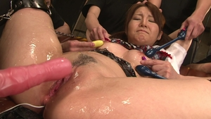 Receiving facial together with hairy japanese brunette