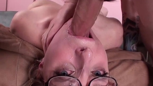 Petite pornstar helps with gagging HD