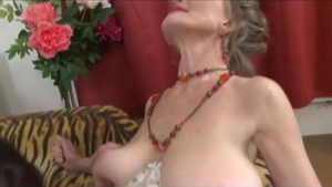 Saggy tits busty european stepmom in sexy stockings roleplay