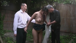Threesome outdoors hairy japanese HD