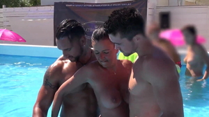 French swinger cuckhold outdoors HD