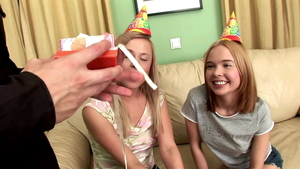 Teen Britney Spring cum in mouth at the party