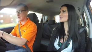 Driver Luke Hardy accompanied by big tits Jasmine Jae