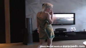 Pretty teen chick finds dick to fuck