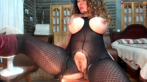Busty spanish mature fetish titty fucking on webcam