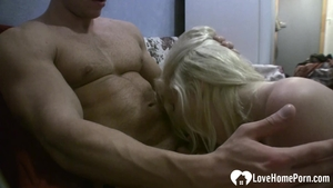 Sex in company with blonde