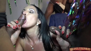 Group sex in the company of big butt latina stepmom