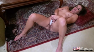 Solo mature masturbating