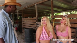 Karen Fisher in tandem with hottest Nina Kayy
