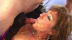 Big boobs mature really likes creampie in HD