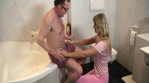 Real sex alongside small tits babe