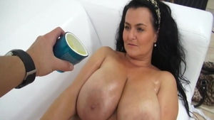 Titty fucking at castings chubby czech