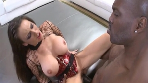 Loud sex together with big boobs brunette