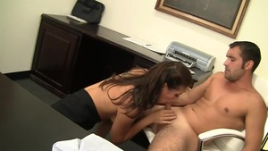 Pussy fucking with Rilynn Rae in office