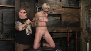 BDSM accompanied by blonde Marie Mccray