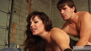 Brunette Bobbi Starr has a thing for sloppy fucking