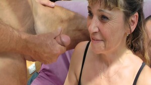 Large boobs french housewife rides a hard dick